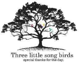 Three little song birds